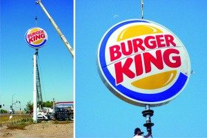 Burger King I5 pole sign combined